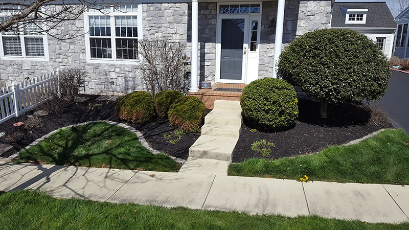 Shrub Trimming and Mulching by Calini LawnCare in Lebanon, PA